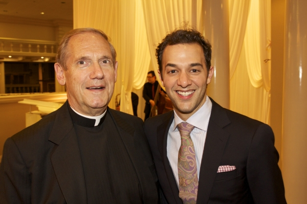 Monsignor Kenneth Velo and Kyle DeSantis