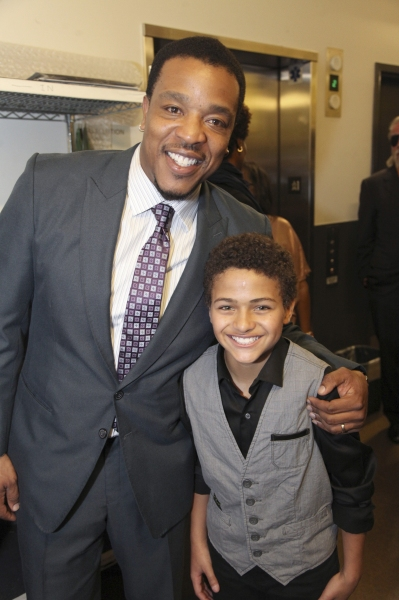 Actor Russell Hornsby and cast member Nathaniel James Potvin