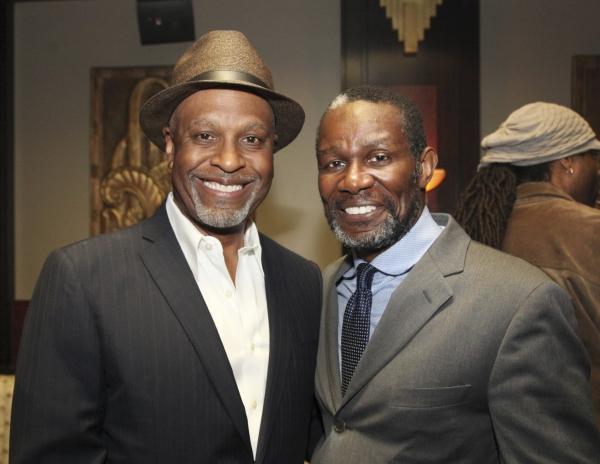 James Pickens, Jr. and cast member John Douglas Thompson