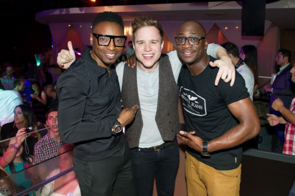 Olly Murs with Darren Heelis and Josh Wilkinson