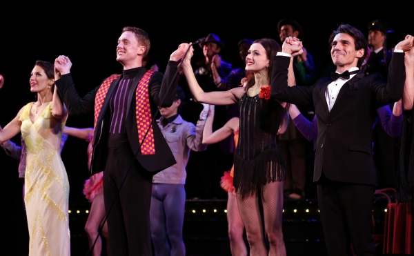 Kelli Barrett, Shonn Wiley, Irina Dvorovenko, Joaquin De Lus during the closing night Curtain Call for ENCORES! production of ''On Your Toes'' at City Center in New York City on 5/12/2013.