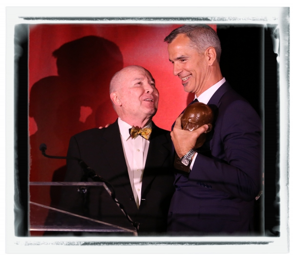 FREEZE FRAME: Jack O'Brien Presents the Mr. Abbott Award to Jerry Mitchell