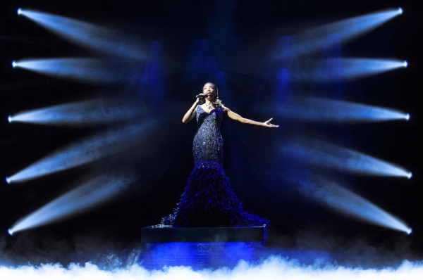 Photo Flash: First Look at Heather Headley in Swarovski Crystals from THE BODYGUARD