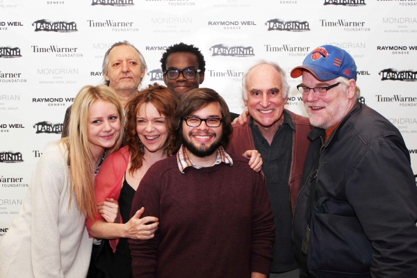 top: Bob Glaudini and Will Jackson Harper. Second Row: Justine Lupe, Didi Oâ€Connell, Charlie Saxton, Jeffrey DeMunn, and Philip Seymour Hoffman