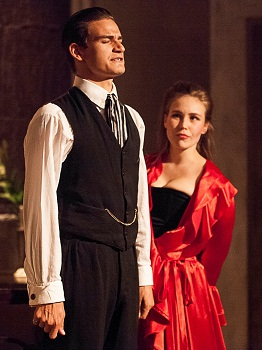 Kieran McGregor as The Count and Sarah Potter as The Actress in LA RONDE