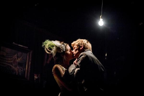 Phillipa Soo and Lucas Steele