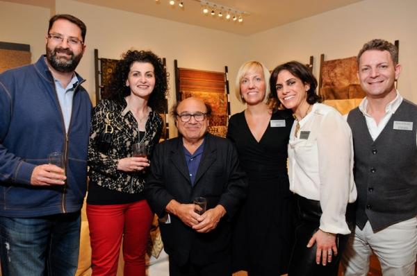 Bobby Gerber, Inna Feldman-Gerber from Real Russian Vodka, Danny DeVito and Pam Wiercinski Karen Wickett, Steven Rosengren from Room & Board