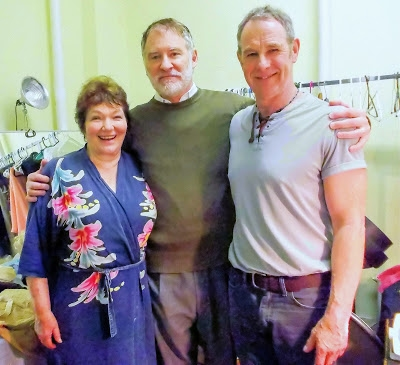 Tina Packer, Kevin Kline & NIgel Gore following a performance of ''Women of Will''
