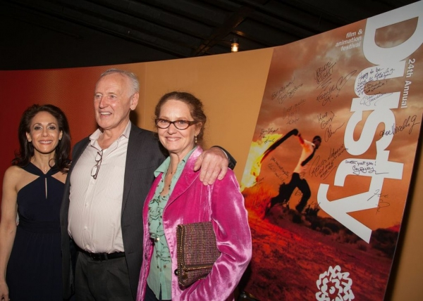 Annie Flocco, Dusty Festival Producer; Reeves Lehmann, Chair, Film, Video and Animation and Actor Melissa Leo
