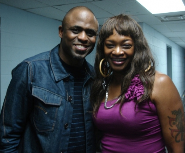 Photo Flash: Wayne Brady and Drummer Camille Gainer Jones at BBKings