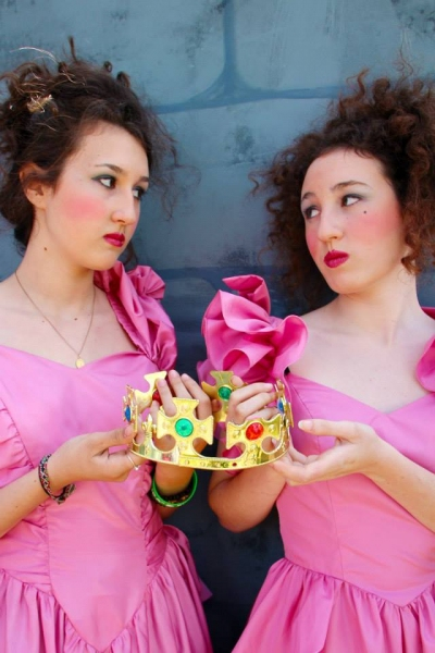 Princess Vinaigre (Isabela Welsh - left) and Princess Jalousie (Caitlin Welsh - right) plan to share the reign...if possible. Photo credit: Pamela Rector