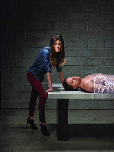 Jennifer Carpenter as Debra Morgan, Michael C. Hall as Dexter Morgan on DEXTER