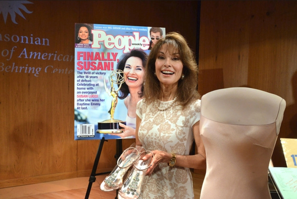 Susan Lucci with her donated items