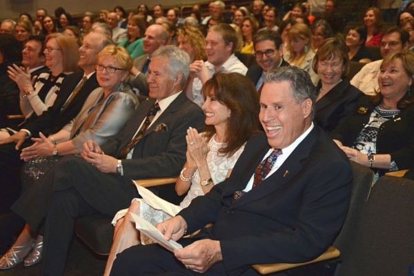 Front Row - David Michaels, Carolyn Grippi, Phil Parker, Kathy Parker, Alex Trebek, Susan Lucci and Malachy G. Wiegnes