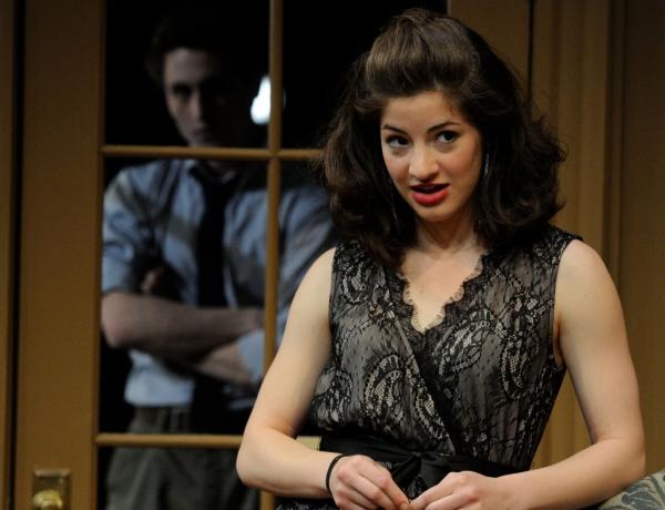 Bridget Saracino (foreground) and Steven Jaehnert