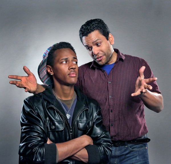 Cherubino from The Marriage of Figaro is reinvented as aspiring hip-hop star Li''l B-Man (Anthony Chatmon), shown here getting advice from Carlos Monzón as the title character
