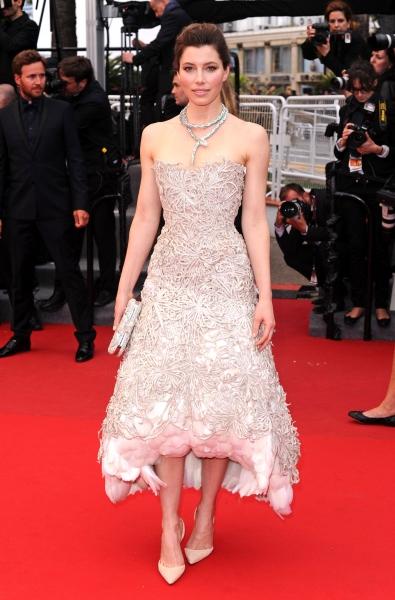 Jessica Biel at the ''Inside Llewyn Davis'' film premiere at the 66th Cannes Film Fes Photo