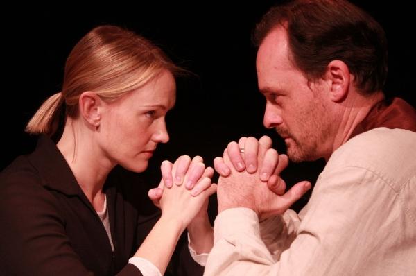 Devon Sorvari and Christopher Guilmet as Elizabeth and John Proctor