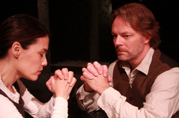 Kimiko Gelman and Bo Fox worth as Elizabeth and John Proctor