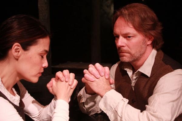 Kimiko Gelman and Bo Fox worth as Elizabeth and John Proctor