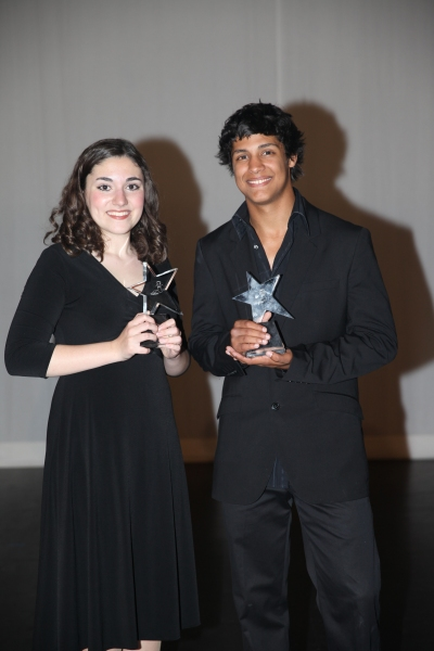 Grand Prize Winners of The 2nd Annual Jerry Herman Awards Natalia Vivino (Santa Susana High School) and Anthony Nappier (Arcadia High School)