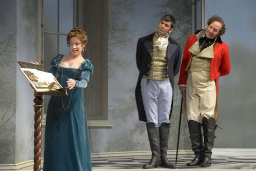 Julia Coffey (Lady Croom), Nick Gabriel (Captain Brice) and Nicholas Pelczar (Ezra Chater)