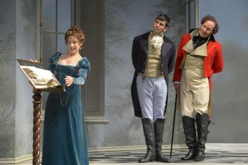 Julia Coffey (Lady Croom), Nick Gabriel (Captain Brice) and Nicholas Pelczar (Ezra Chater)