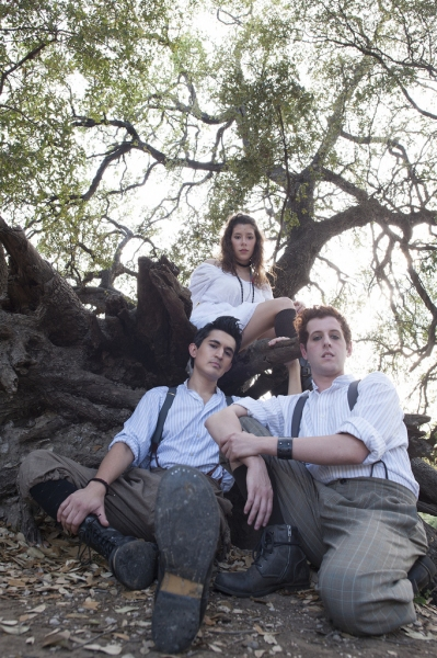 L to R: Travis Trevino, Mariela Flor Olivo, and Trevor Chauvin in SPRING AWAKENING.