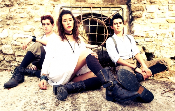 L to R: Trevor Chauvin, Mariela Flor Olivo, and Travis Trevino in SPRING AWAKENING.