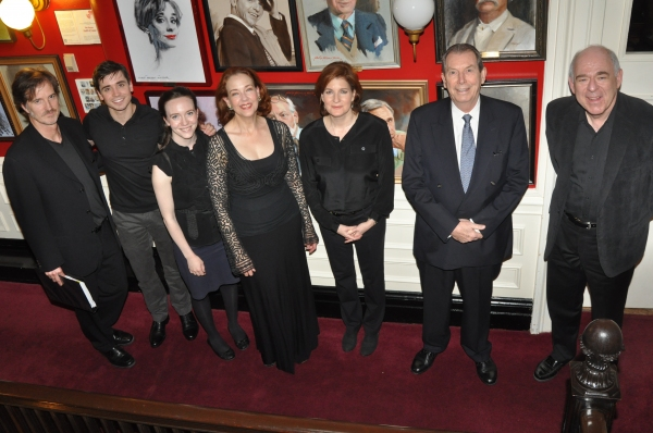 Matthew Sullivan, Matt Doyle, Amelia Pedlow, Harriet Harris, Roma Torre, Richard Easton and Lenny Wolpe