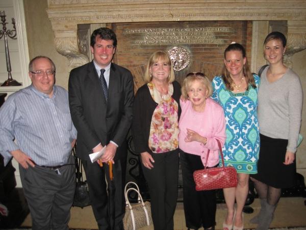 Richard Terrano, Ethan Litwin, Marylee Martin Terrano, Anita Jaffe, Lisa Litwin and Morgan M. Feder