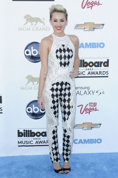 Miley Cyrus at the 2013 Billboard Music Awards in Las Vegas (Photo by Picture Perfect Photo