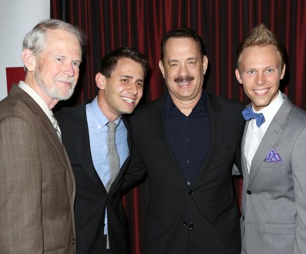 Joseph Robinette, Benj Pasek, Tom Hanks, Justin Paul  Photo