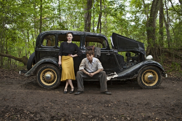 Holliday Grainger and Emile Hirsch as Bonnie and Clyde.