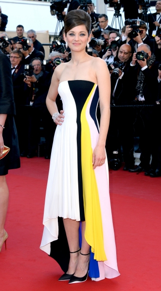 Marion Cotillard at ''Blood Ties'' film premiere, 66th Cannes Film Festival (Photo by John P. De Graeve/Rex USA)