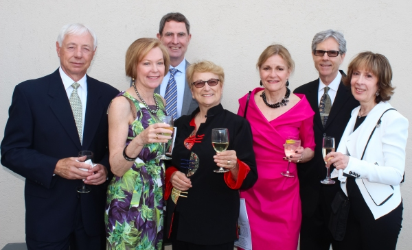 Ron Becker, Patricia Rowell, Julie Denny and guests