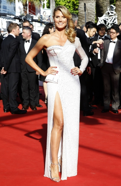 Heidi Klum at the  ''Nebraska'' film premiere at the 66th Cannes Film Festival (Photo by Picture Perfect / Rex USA)
