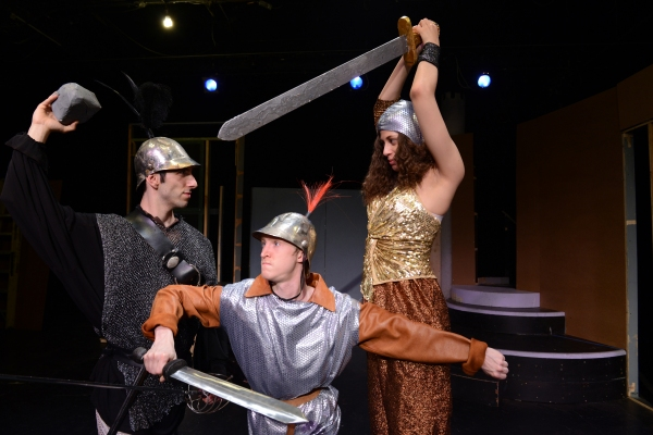 Perri Yaniv as Lord Grizzle, Jarrod Bates as Tom Thumb, Meaghan Bloom Fluitt as Glumdalca the Giant Princess