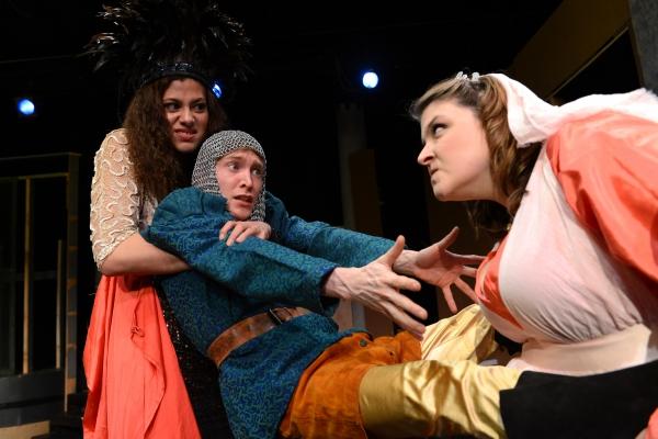 Meaghan Bloom Fluitt as Glumdalca the Giant Princess, Jarrod Bates as Tom Thumb, Eva  Photo