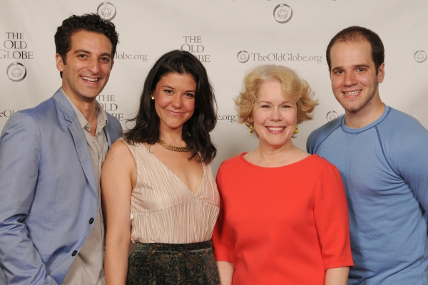 (from left) Cast members Ben Graney, Zo�'ƒÂ« Winters, Christine Estabrook and Kelsey Kurz at the opening night party for Be a Good Little Widow on May 16, 2013. The West Coast Premiere of Bekah Brunstetter''s Be a Good Little Widow, directed by Brooks,