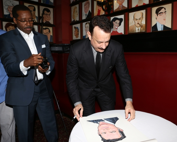 Photo Coverage: Sardi's Unveils Caricature of LUCKY GUY's Tom Hanks!
