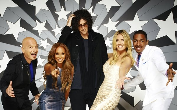 AMERICA''S GOT TALENT -- Season:8 -- Pictured: (l-r) Howie Mandel, Mel B, Howard Stern, Heidi Klum, Nick Cannon -- (Photo by: Andrew Eccles/NBC)