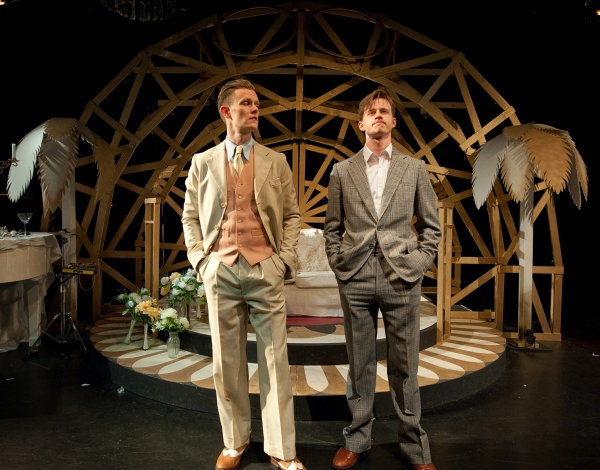 Gastsby3(Left to right) Michael Lindall (Jay Gatsby) with Sid Phoenix (Nick Carraway)