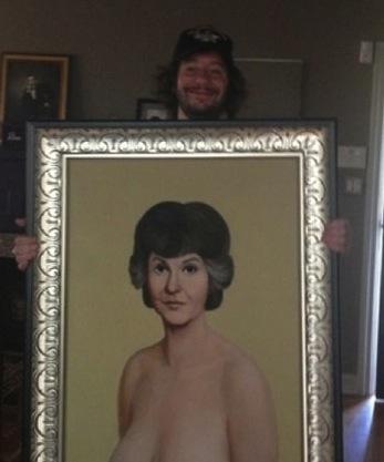 Nude Bea Arthur Painting Update: Jimmy Kimmel Bought It