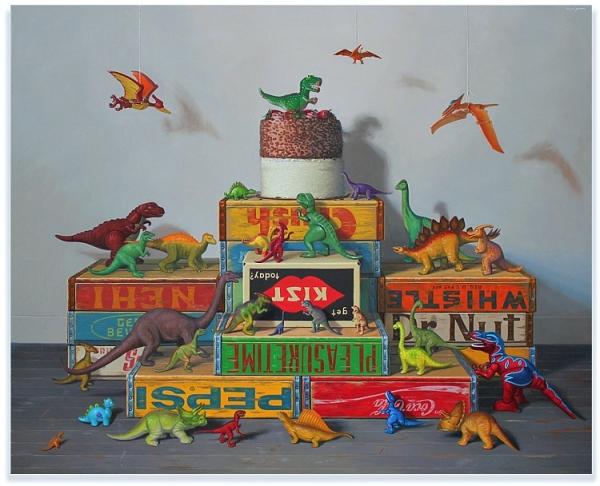 Robert Jackson, BIG CUBE, Oil on Linen, 36'' x 36''