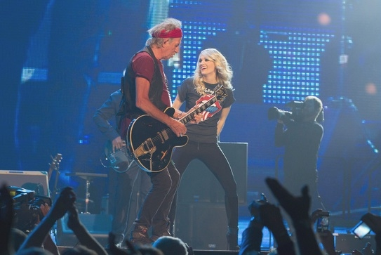 Keith Richards,Carrie Underwood