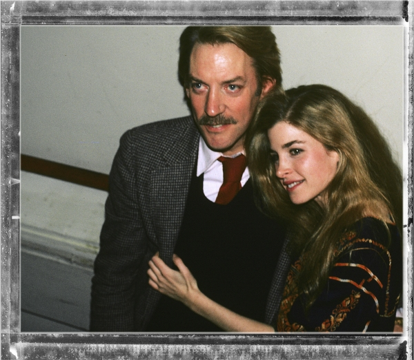 Donald Sutherland and Blanche Baker pictured together backstage after their Opening Night Performance in ''LOLITA'' at the Brooks Atkinson Theatre in New York City on March 19, 1981.