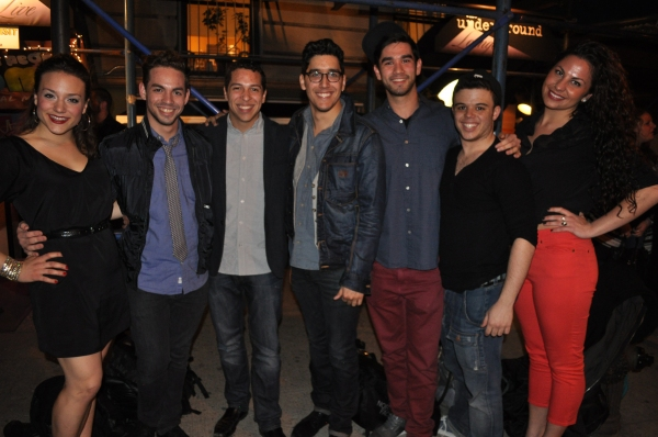 Bostons Speak Easy Stage Compnay cast of In the heights Sarah Crane, Adrian Ruz, Producer Victor Legra, Chris Rameriez, Sean Jones, Jorge Barranco, Alessandra Valea
