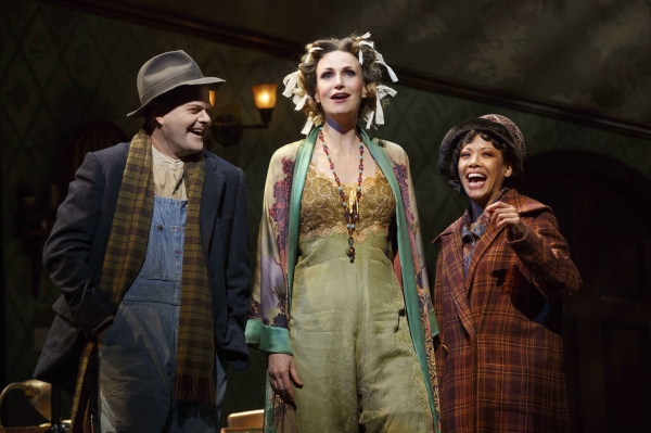 Clarke Thorell as Rooster Hannigan, Jane Lynch as Miss Hannigan and J. Elaine Marcos as Lily St. Regis
