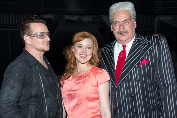 Photo Coverage: Bono & The Edge Join SPIDER-MAN Cast to Celebrate 1000 Performances on Broadway!